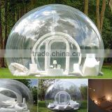 inflatable clear dome tent, popular inflatable bubble camping tent, inflatable lawn dome tent for sale