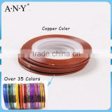 ANY Nail Beauty Curing DIY Self Adhesive Line Copper Color Plastic Nail Sticker Tape