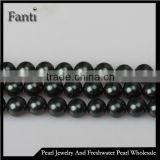 10mm black faux pearl bead string for decorating