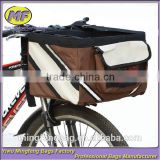 New High Quality Ventilating 600D Oxford Bicycle Pet Basket Bag and Pet Dog Cat Travel Bike Bag                                                                         Quality Choice