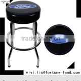 360 degree Rotation blue black metal Bar Stool high chair