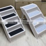 Eastony Outdoor Indoor Portable Plastic Pet Steps Pet Stairs Plus Dog Steps Dog Stairs Foldable Easy Store Pet Step Ladder