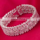 new design flower zirconia bangle bridal accessories party gift wholesale large cz bracelet
