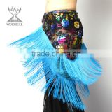 Wholesale rose flower Bellydance belts, elegant Tassels belly dance hip scarf YL122