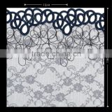 POLYESTER IRREGULAR CIRCLE EMBROIDERY RASCHEL LACE FABRIC