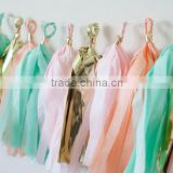 Factory Supply Wedding Decoration Party Tassels And Paper Garland