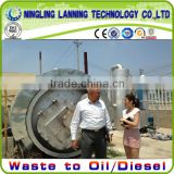 16mm thickness Q345 reactor waste tyre pyrolysis machine