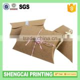 300g nature color brown kraft pillow box