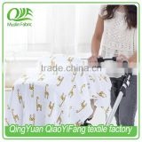 100% Cotton Muslin Baby Car Seat Cover, Baby Nursing Cover, Baby Blanket/Swaddles By Trade Assurance
