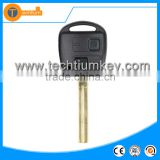 ABS 2 button car remote key With 315Mhz 4D67 Chip with logo Long blade for Lexus rx300 is250 gx470 gs300