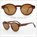 wooden sunglasses with black acetate temple ,Polarized vintage sunglasses from China
