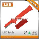 German style Stainless Steel fixed straight blade safety electrical cable peel knife LS-54