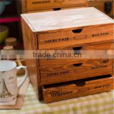 classical 4 drawers storage box wooden box wooden packaging wholesale