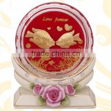 crystal paper weight inside kiss fish design selling in cheap price 2016