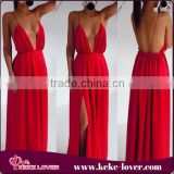 SD4150 New fashion backless women sexy long dress red women sexy dress elegant women party dress