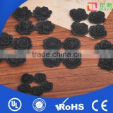 Wholesale flat back big black real resin flower