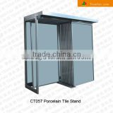 porcelain tiles showroom metal display/exhibition racks stands for ceramic tiles stone samples CT057