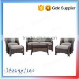 Latest Design Poly Rattan Wicker Garden Furniture Outdoor Sofa Set