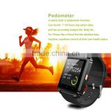 Bluetooth Watch silicone charm bracelet,smartwatch u8 pro watch for Android Phone +anti-lost