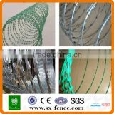 PVC coated & galvanized razor barbed wire mesh(ISO9001:2008 professional manufacturer)
