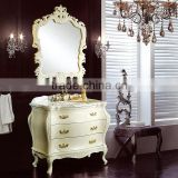 WTS-222SYO France Style elegant bedroom furniture ivory dressing table with mirror bench vanity set dresser