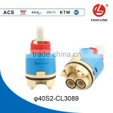 40mm high base brass spindle water filter ceramic cartridge of tap parts