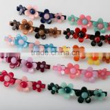 Cute design ladies hair accessories beaded hair ornament french resin flower hair barrette