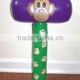 Fashion popular durable hot sale monkey inflatable hammer for kids