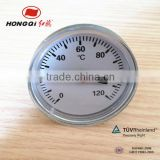 "HQWSS-50"" 2.5"" dail face plastic industrial bimetal thermometer for valve"