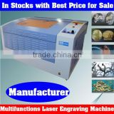 Hot Sale New Laser Cutting and Engraving Machine in Stocks for Wood, Stone, Polyester, OX-Horn, Paper Board