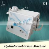 Hydradermabrasion beauty machine with CE certificated, portable design, vacuum pressure is adjustable through the vacuum knob