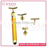 natural beauty Skin Care Bar 24K Gold Amber Anti-Aging Facial Massager Pulse Roller Beauty Face