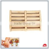 wholesale 6 rows Body Relax Massager Tool Foot Massage Wooden Roller