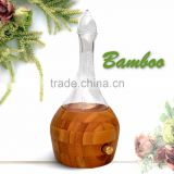 Elegant Bamboo Glass LED Aroma Diffuser Nebulization Essential Oil Diffuser