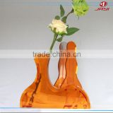 China factory wholesale acrylic plastic tall cylinder vases