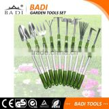 new design telescopic long handle hand forged garden tools set