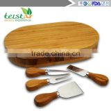 Manufacturers selling 100% of the natural bamboo cheese board and sliding out type and cutlery drawer