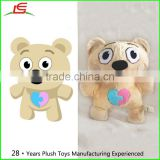 Cartoon Bear Octopus Cookies Plush Mascot Logo Stuffed Custom Handmade With Supplied Drawings