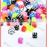 uv acryic piercing jewelry dices colorful accessories replacement parts cheap mixed colors wholesale