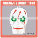 2015 new plastic halloween skull head pendant toy with light and music