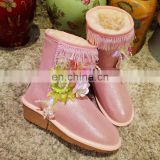 Aidocrystal new style comfortable warm women shoes china wholesale winter girl lovely bling snow boots