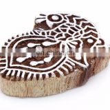 Indian Hand Carved Textile Wooden Handmade Brown Wood Stamp Crafting Printing Block