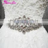 A5S201 Rhinstone and Crystal Bridal Sash Applique