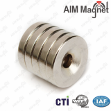 AIM Rare eath permanent magnet NdFeb magnet Round countersunk magnet