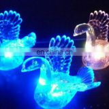 led plastic clear swan for Christmas