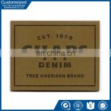 The Most Fashion Leather PU Patch Label For Jeans Clothing