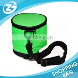 China Supplier Custom Logo Fashionable Green Recycle Oval Shape Cool Carry Cooler Bag