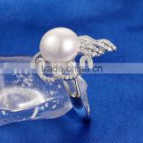 Pearl Ring Sterling Silver Simple Design Rings for Women Jewerlry SRE137W
