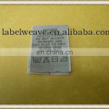 centre folding garment washing woven label