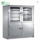 2018 hot-sale hospital medical furniture storage cabinets with glass door